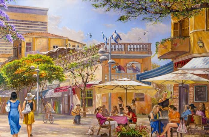 Original Oil Painting: Friday morning on Nahalat Benyamin