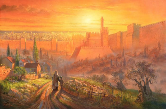 Original Oil Painting: Golden Jerusalem