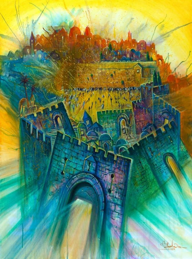 Original Oil Painting: Indivisible Jerusalem