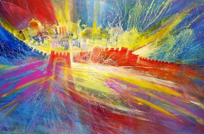 Original Oil Painting: The heart of Jerusalem