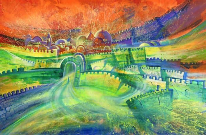 Original Oil Painting: Jerusalem Walls