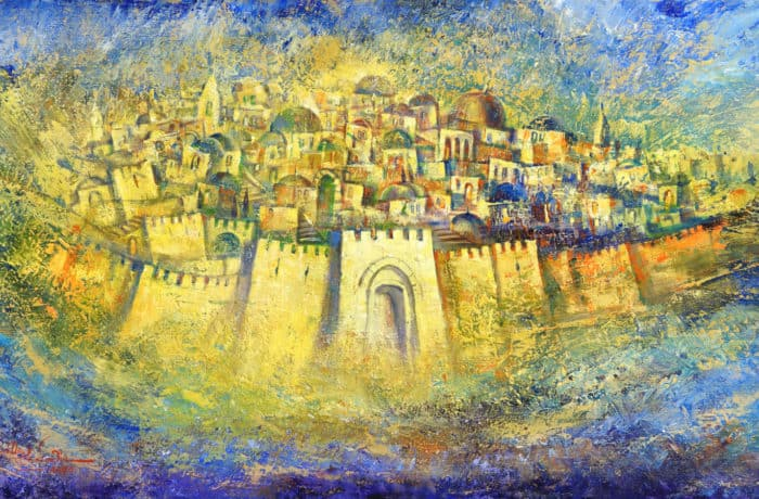 Original Oil Painting: Jerusalem of Gold