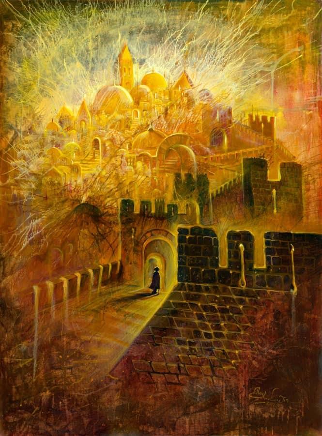 Original Oil Painting: Jerusalem, the place chosen by God
