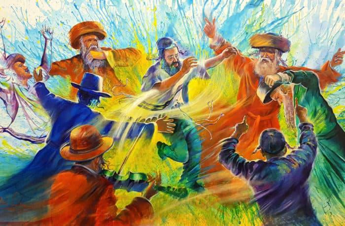 Original Oil Painting: Jewish Dance