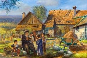 jewish art shtetl painting