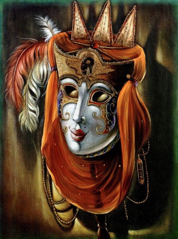 Original Oil Painting: Jolly Music Flute