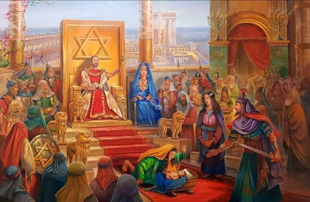 Judgement of Solomon painting