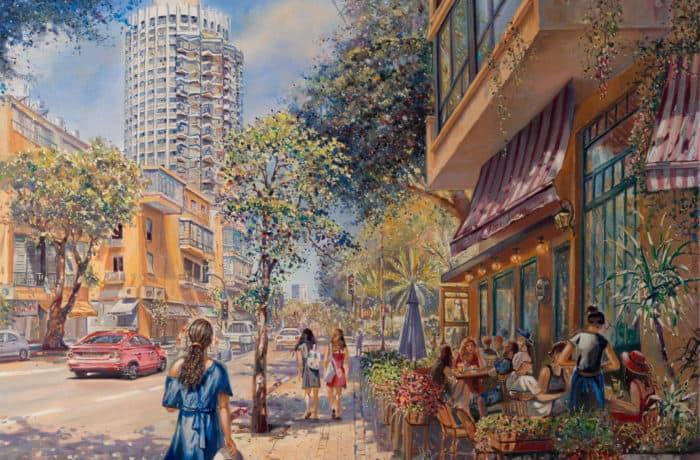Original Oil Painting: Light of Tel Aviv
