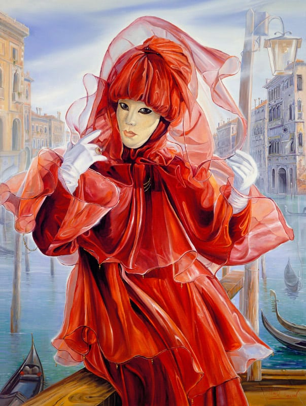 Original Oil Painting: Misty Winter in Venice