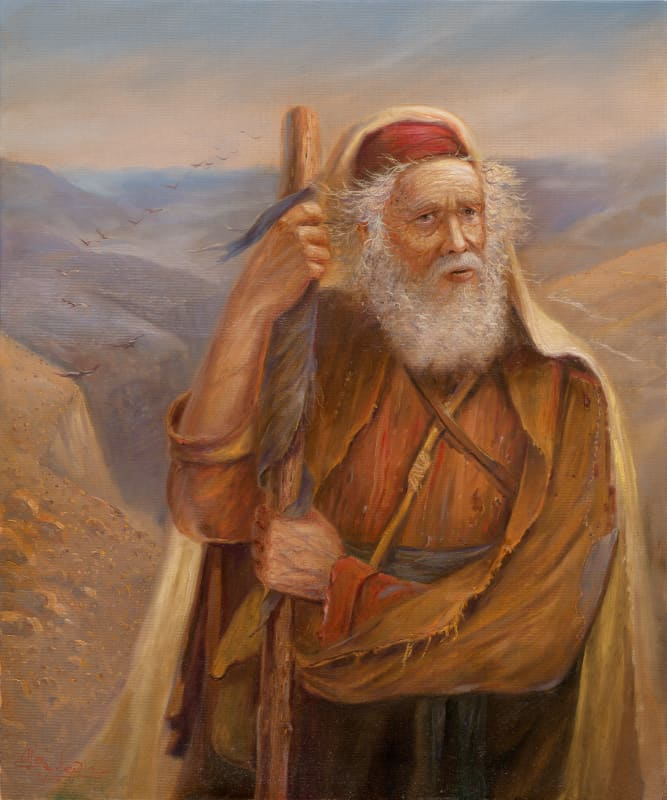 Original Oil Painting: Moses at the Promised Land