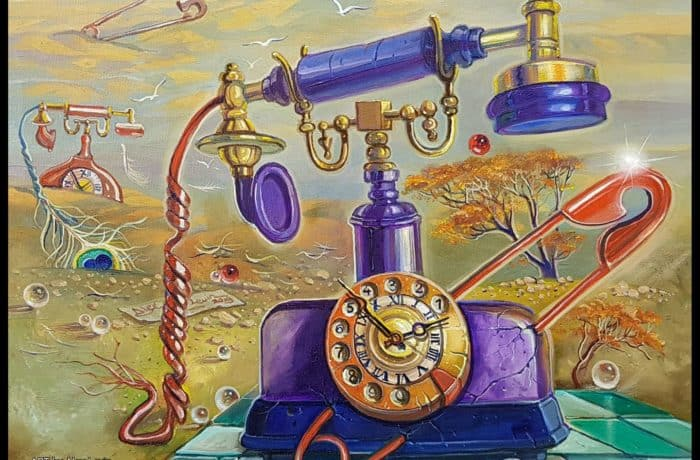 Original Oil Painting: No time to waste