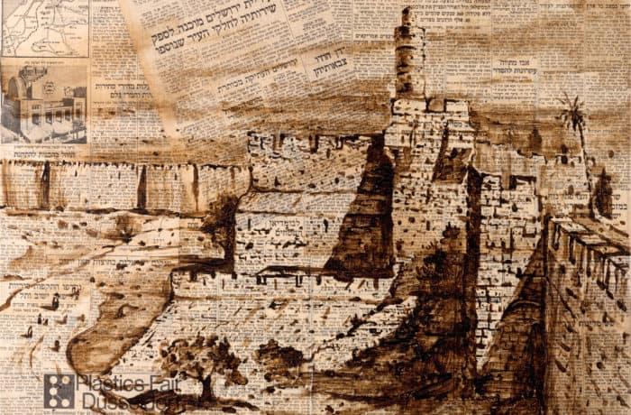 Original Oil Painting: Reunification of Jerusalem after the Six Day War