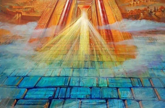 Original Oil Painting: Rising of the Third Jerusalem Temple