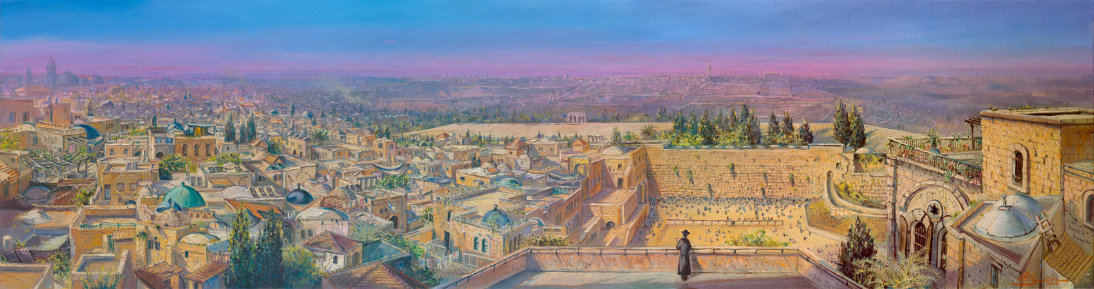 Original Oil Painting: Roofs of Jerusalem