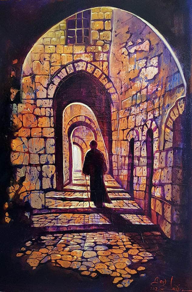 street in old jerusalem painting
