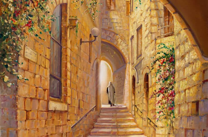 Original Oil Painting: Street in the Old City