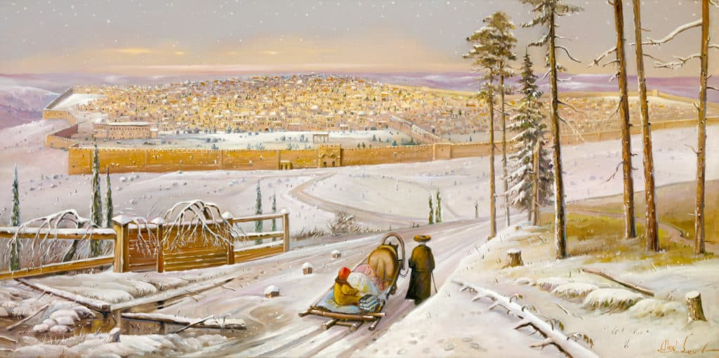 snow in Jerusalem Painting