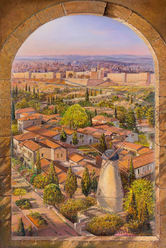 Original Oil Painting: Beauty of Jerusalem