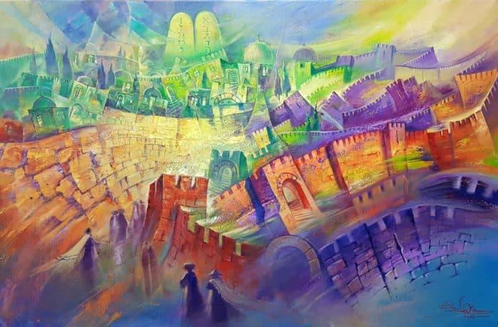 Original Oil Painting: The sounds of Jerusalem