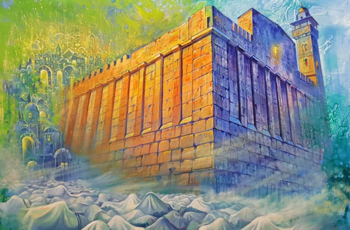 Original Oil Painting: Tomb of the Patriarchs Hebron