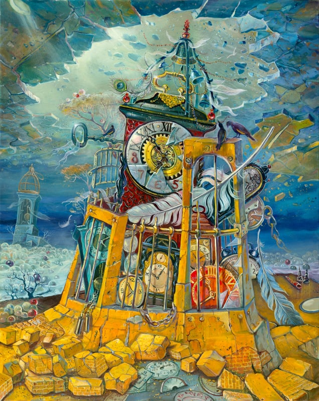 Original Oil Painting: Tower of Babylon