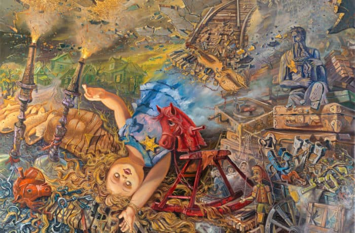 Original Oil Painting: Vanished World