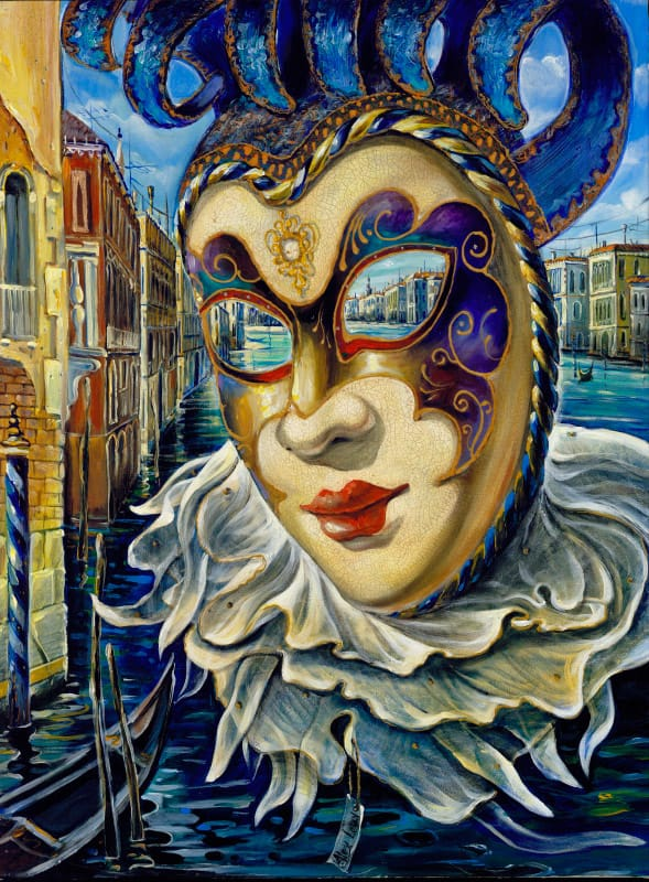 Original Oil Painting: Venetian Mystery