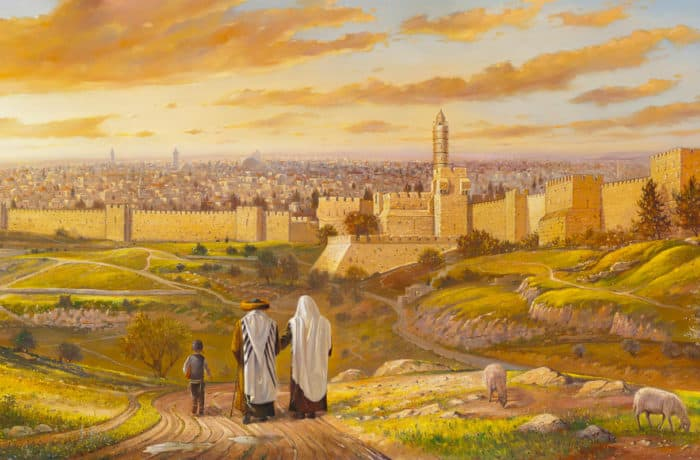 Original Oil Painting: Welcome to Jerusalem