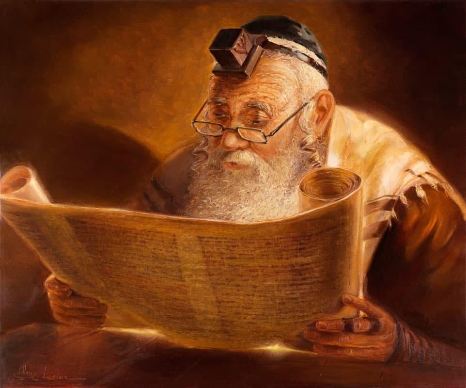 jewish man reading torah
