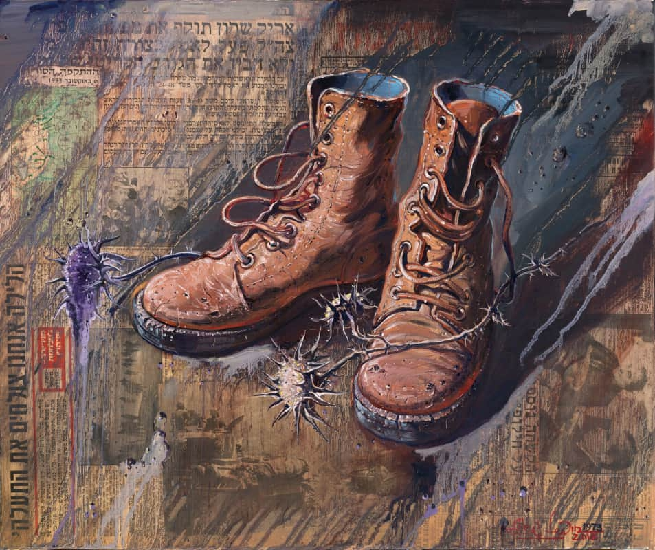 army red boots painting