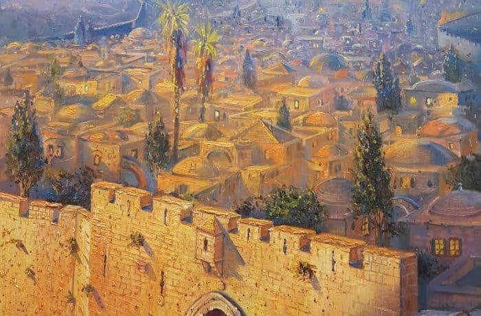 Original Oil Painting: Zion Gate