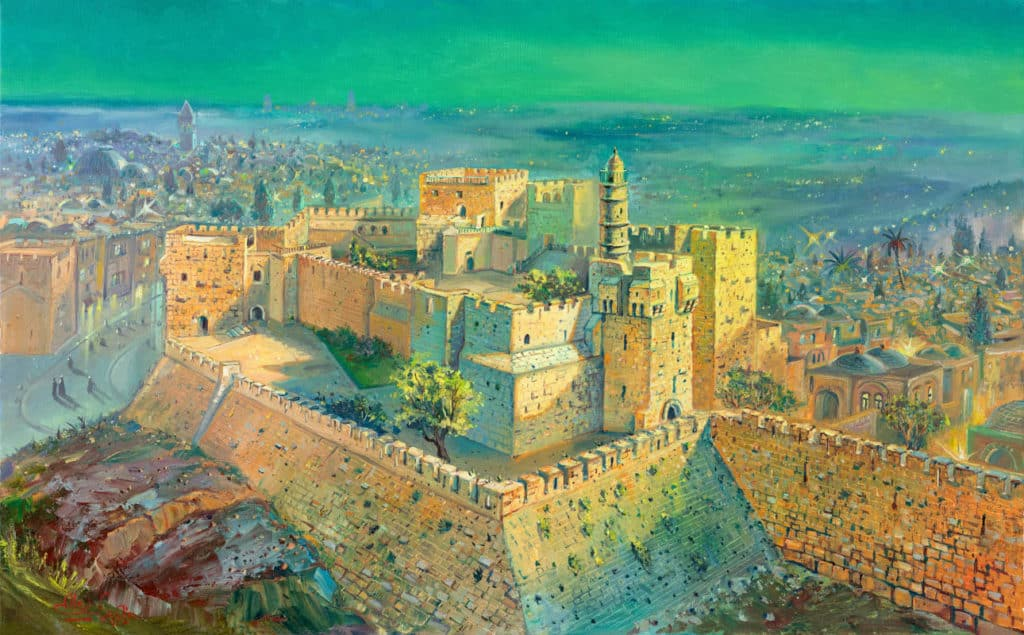 abstract jerusalem painting