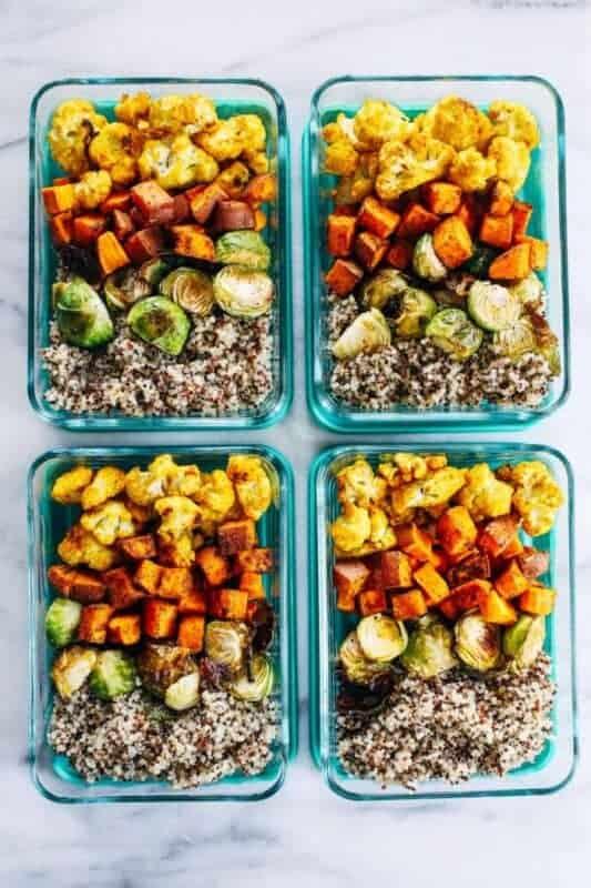 Roasted Vegetable Quinoa-Vegan Meal prep ideas