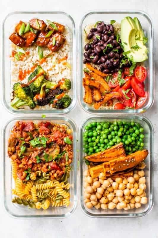 Easy Vegan Bowls-Vegan Meal prep ideas