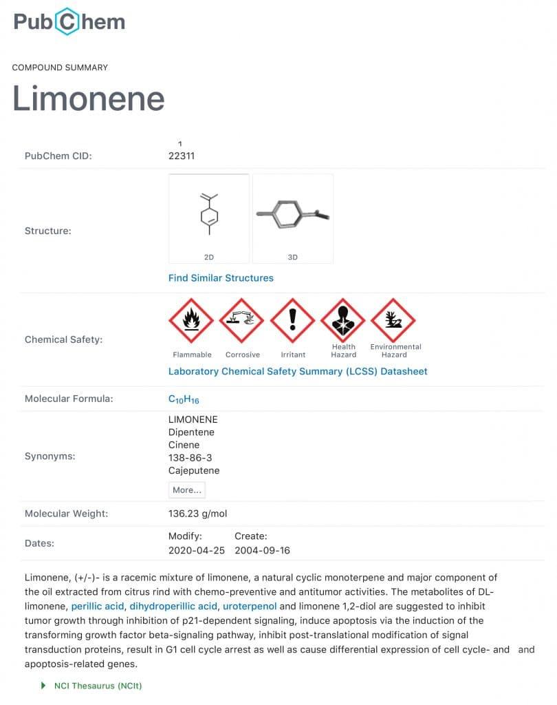 Limonene-c10h16---bjsc