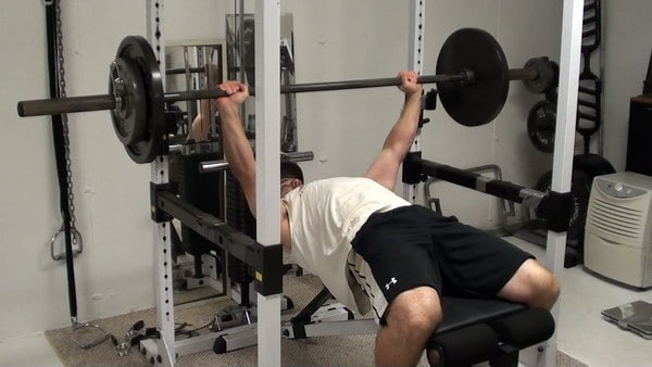 One and a Quarter Reps on Barbell Bench Press for Maximizing Time Under Tension on the Pecs