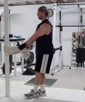 Towel Pistols...Bodyweight Training for Leg Development