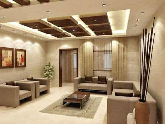 living room false ceiling idea