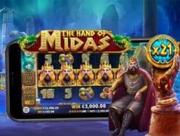 Casinoer Med en Bonus til The Hand of Midas