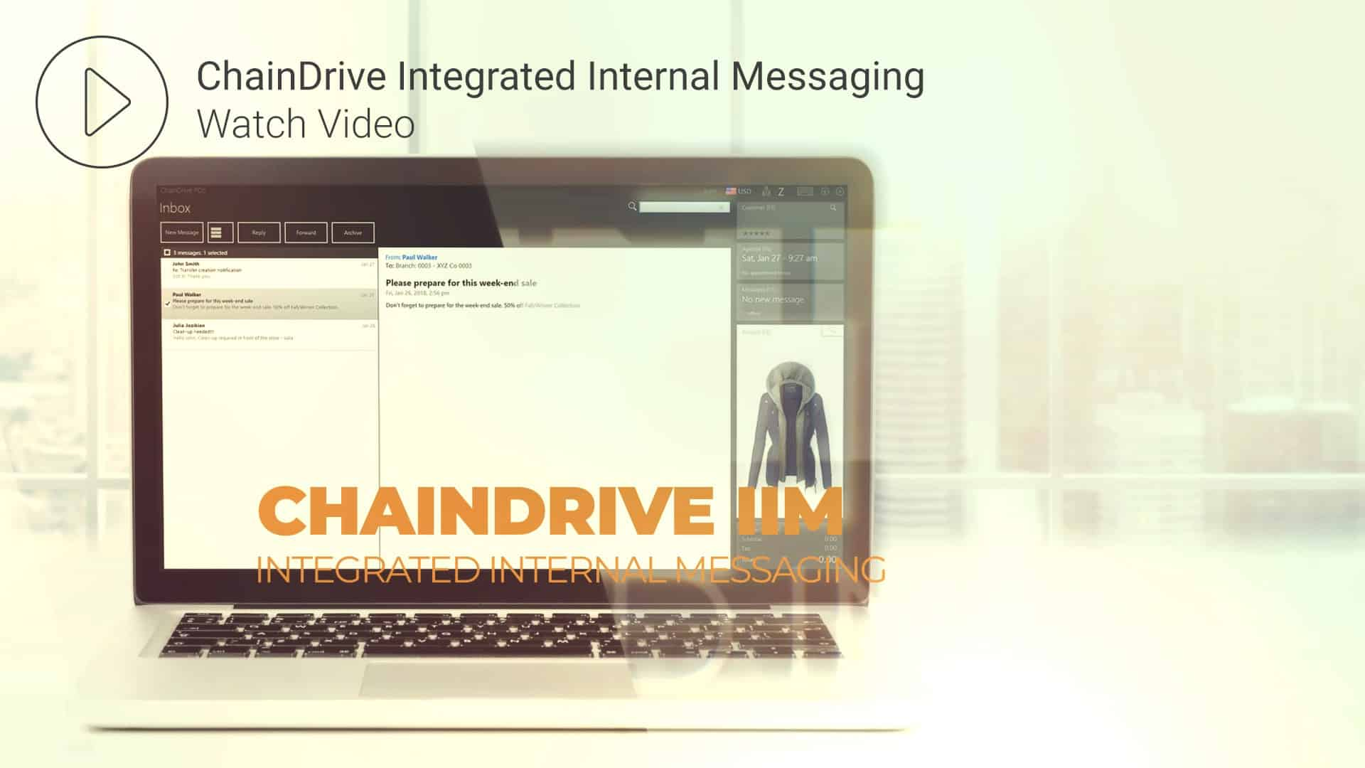 Integrated Internal Messaging Video