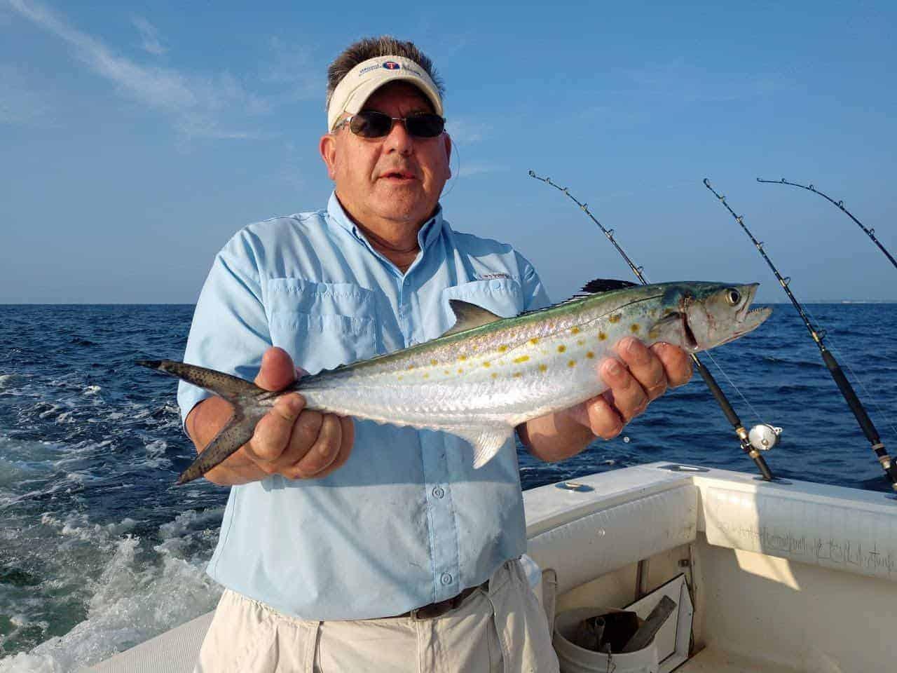 Stan Simmerman of Virginia shows off a nice Spanish mackerel. (Photo courtesy of Ken Neill)
