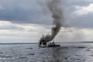 Fellow Boaters Rescue Five from Burning Sportfisher