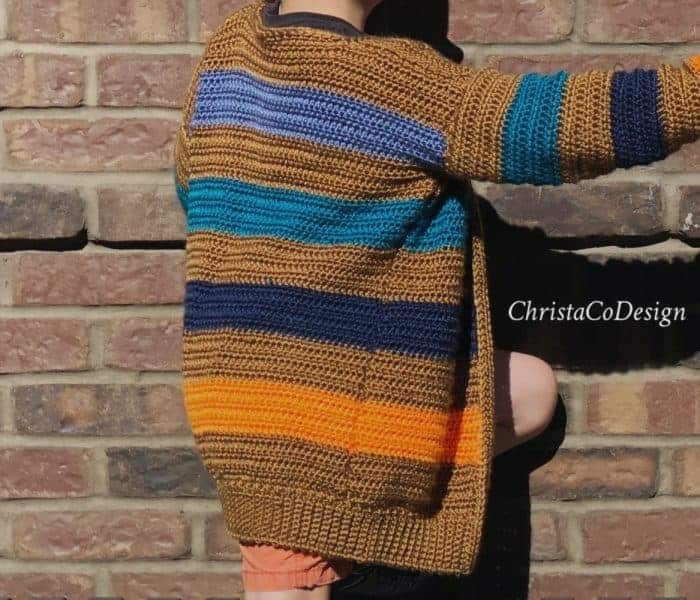 Bryce Canyon Striped Cardigan Free Crochet Pattern