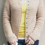 picture of woman in crochet cardigan free pattern