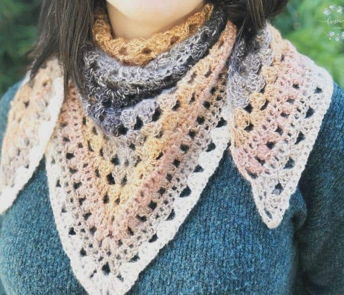 Ambra Triangle Scarf One Skein Crochet Pattern