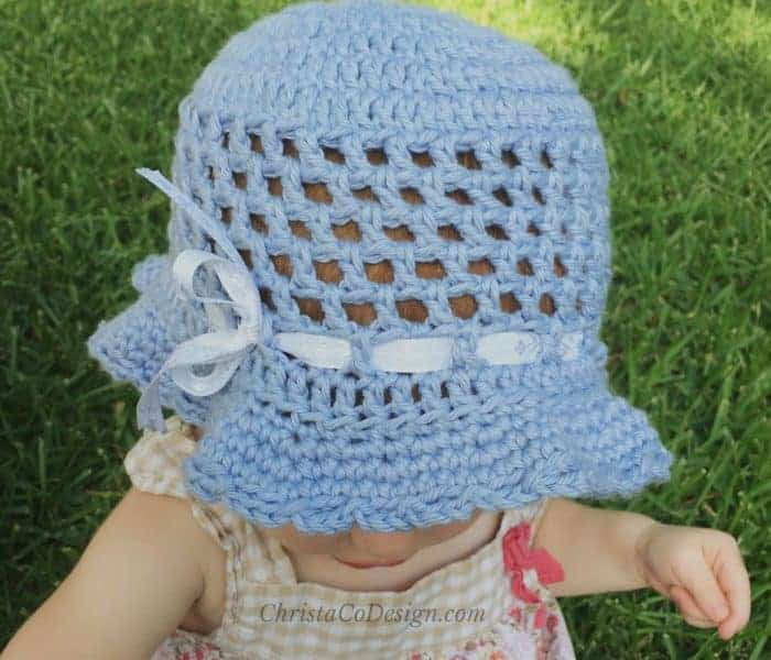 Crochet Toddler Sun Hat Photo Tutorial