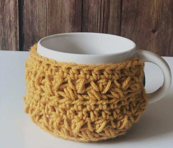 Coffee Bean Cup Cozy a Free Crochet Mug Cozy Pattern