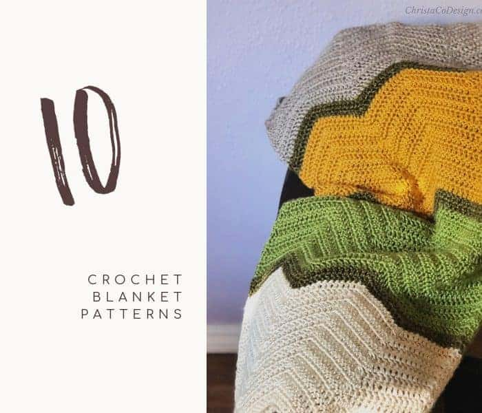 10 Crochet Blanket Patterns That Are Easy To Crochet!
