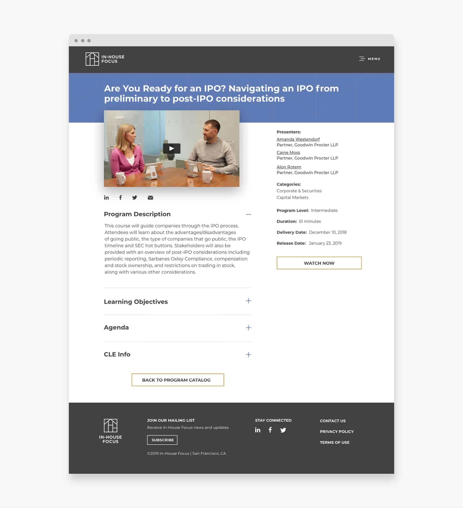 In-House Focus Program Catalog - Design Agency - Citizen Best