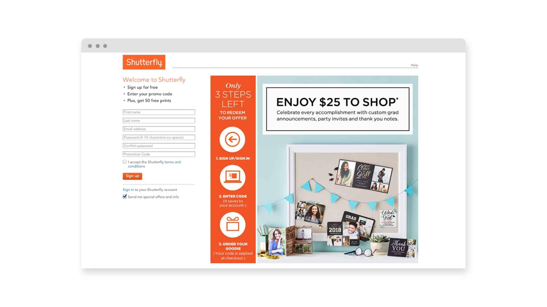 Shutterfly Enjoy $25 To Shop - Brand Advertising Agency - Citizen Best